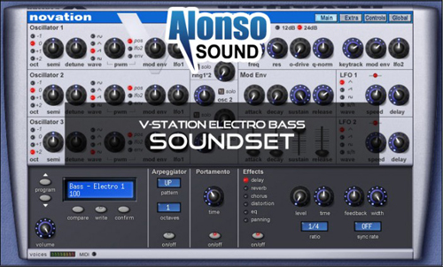 Alonso V-Station Electro Bass Soundset